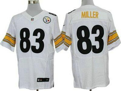 05cf7207095 Nike Pittsburgh Steelers 83 Heath Miller White 2012 Nike NFL Elite Jersey