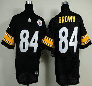 innovative design 2913a a49fe Nike Pittsburgh Steelers #84 Antonio Brown Black Elite Jersey