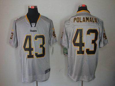 Nike Pittsburgh Steelers 43 Troy Polamalu Lights Out Black Name Grey Elite  Jerseys 28c641fdb