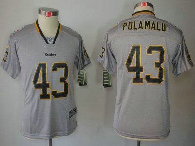 huge selection of e6741 5ba4c nike pittsburgh steelers 43 troy polamalu lights out black ...
