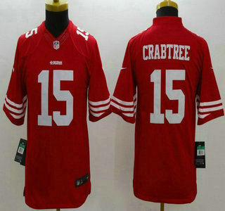 1059ddfc6 Nike San Francisco 49ers  15 Michael Crabtree Red Limited Kids Jersey