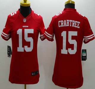 2354789bf5e Nike San Francisco 49ers  15 Michael Crabtree Red Limited Womens Jersey