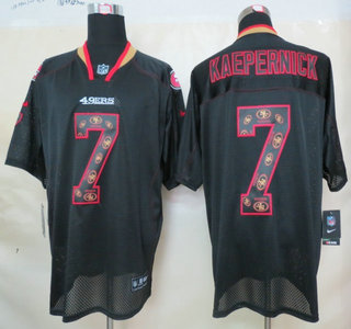 superior quality f9930 42dec Nike San Francisco 49ers #7 Colin Kaepernick Lights Out ...