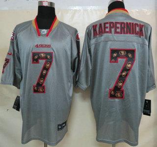 new style ab601 3319b Nike San Francisco 49ers #7 Colin Kaepernick Lights Out Grey ...