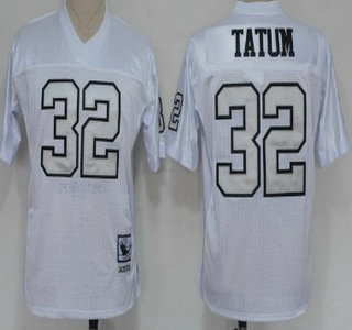 the latest 6b712 01ce7 oakland raiders 32 jack tatum white with silver throwback jersey