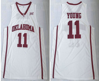 cheap for discount 0bb24 67c9d Oklahoma Sooners #11 Trae Young Red College Basketball Jersey