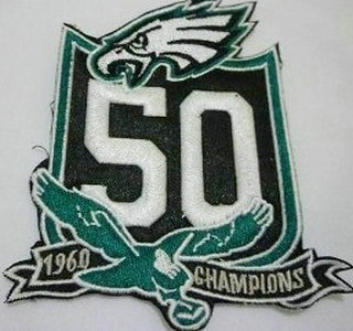 eagles 50th anniversary patch