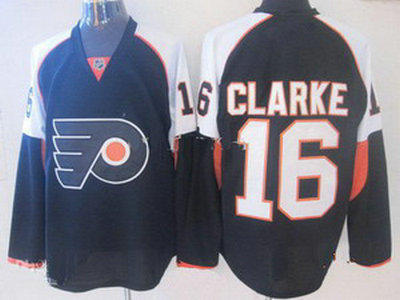 philadelphia flyers 16 bobby clarke black hockey jersey