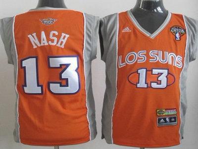 reputable site 4c006 02f0a Phoenix Suns #13 Steve Nash Latin Nights Orange Authentic Jersey