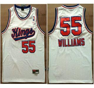17b10946d Sacramento Kings  55 Jason Williams Hardwood Classic White Swingman Jersey