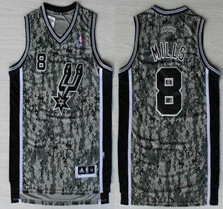 fbe15babd3e ... Black Jersey San Antonio Spurs 8 Patrick Mills Revolution 30 Swingman  Camo Jersey ...