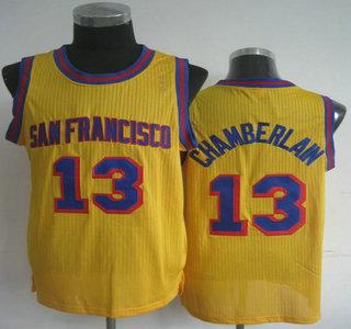 new product ce40d 46f4f San Francisco Warriors 13 Wilt Chamberlain Yellow Revolution ...