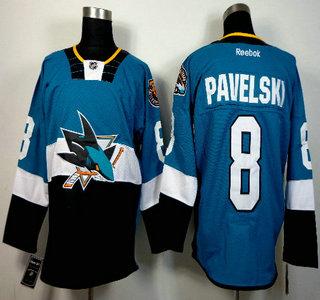 on sale d5fb3 9dd19 Men's San Jose Sharks #8 Joe Pavelski Teal Green 25th ...
