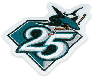 best sneakers 730df f9aae San Jose Sharks 25th Anniversary Patch