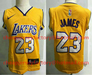 best sneakers f94c2 3d9c1 Toddler Los Angeles Lakers #23 LeBron James Yellow Nike ...