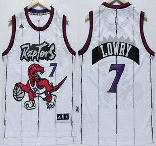 ... Toronto Raptors 7 Kyle Lowry Hardwood Classic White Swingman Jersey ... 7ada9c92c