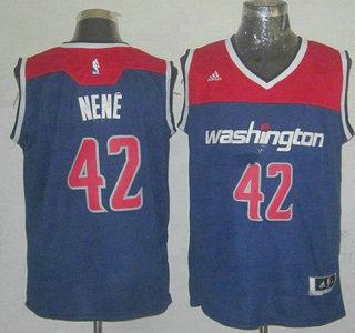 12a2a690f Washington Wizards  42 Nene Hilario Revolution 30 Swingman 2014 New Navy Blue  Jersey