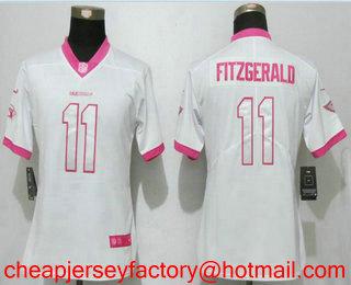 Nice Women's Arizona Cardinals #11 Larry Fitzgerald Pink Fashion 2017  free shipping