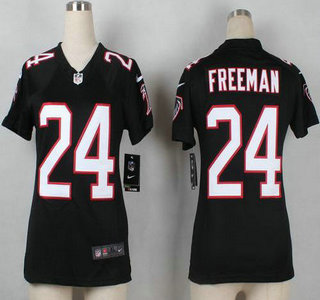womens atlanta falcons 24 devonta freeman black retired player nfl nike game jersey