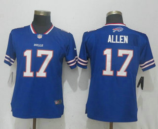 Women s Buffalo Bills  17 Josh Allen Royal Blue 2018 Vapor Untouchable  Stitched NFL Nike Limited Jersey 483424670