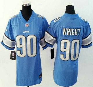 finest selection 5da42 aa0c9 Womens Detroit Lions Blank White Nike Jerseys