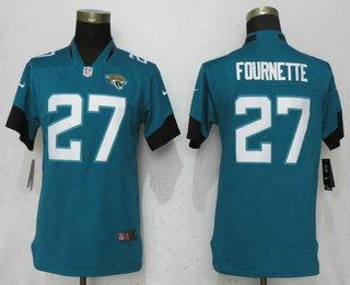 Women s Jacksonville Jaguars  27 Leonard Fournette Green New 2018 Vapor  Untouchable Stitched NFL Nike Limited c7ad4be79
