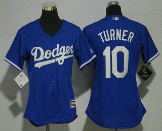 4e25ec8c6 Women s Los Angeles Dodgers  10 Justin Turner Royal Blue Stitched MLB Cool  Base MLB Jersey
