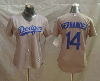 info for d0300 9f6cd Women's Los Angeles Dodgers #14 Enrique Hernandez Gray ...