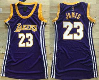 7bb1979d390 Women's Los Angeles Lakers #23 LeBron James New Purple 2018-2019 Nike Swingman  NBA Jersey
