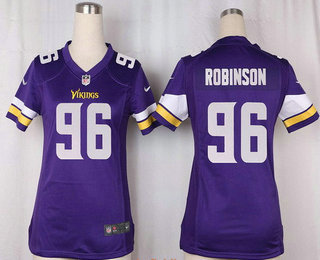 the best attitude d7541 5550d Women's Minnesota Vikings #96 Brian Robison Purple Team ...