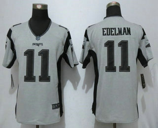 the latest 2f342 f6493 Women's New England Patriots #11 Julian Edelman Gray ...