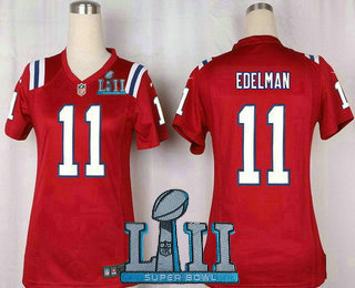 finest selection 9b67f d9c59 Women's New England Patriots #11 Julian Edelman Red ...