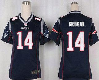 890e758fcf3 Women's New England Patriots #14 Steve Grogan NEW Navy Blue Team Color  Stitched NFL Nike
