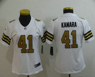 info for d2429 30a70 Women's New Orleans Saints #41 Alvin Kamara White 2016 Color ...