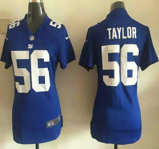 finest selection f8623 f8eb8 Women's New York Giants #56 Lawrence Taylor Royal Blue ...