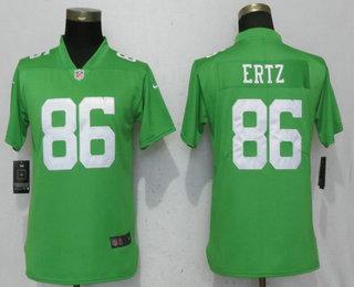 new product 05389 feee7 Women's Philadelphia Eagles #86 Zach Ertz Light Green 2017 ...