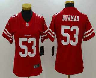 ... 49ers 53 NaVorro Bowman Red 2017 Vapor Untouchable Stitched NFL Nike  Limited NFL Pro Line Womens San Francisco 49ers Carlos Hyde Team Color  Jersey . 4e7f89ef7