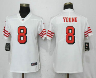 e19ec5a553d Women s San Francisco 49ers  8 Steve Young White 2018 Color Rush Vapor  Untouchable Limited Jersey