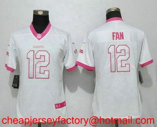 sports shoes e04a7 a6fdd Women's Seattle Seahawks 12th Fan White Pink 2016 Color Rush ...