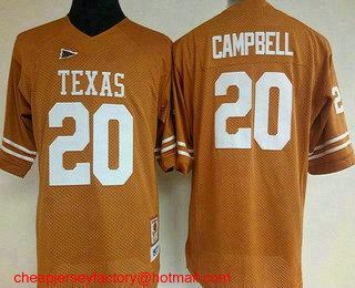 new concept 7c776 c9785 Women's Texas Longhorns #20 Earl Campbell Burnt Orange ...