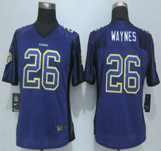 Women's Minnesota Vikings #14 Stefon Diggs Purple Drift Stitched NFL  hot sale