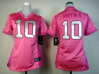 Nike Washington Redskins 10 Robert Griffin III Pink Love s Womens Jersey e05341db8