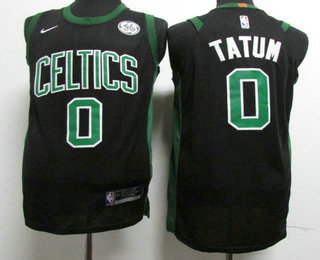 promo code e68bb 70195 Youth Boston Celtics #0 Jayson Tatum Black 2017-2018 Nike ...