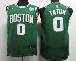 b20382d2c Youth Boston Celtics  0 Jayson Tatum Green 2017-2018 Nike Authentic General  Electric Stitched
