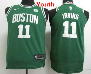 6652a1431 Youth Boston Celtics  11 Kyrie Irving Green 2017-2018 Nike Swingman General  Electric Stitched NBA Jersey