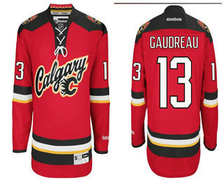 b51947267 Youth Calgary Flames 13 Johnny Gaudreau 2016 Premier Alternate Red Jersey  ...
