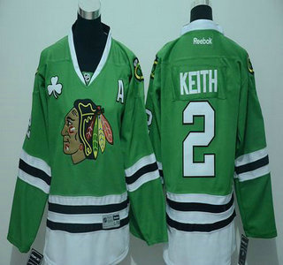 new products d92ac 9c7c4 Youth Chicago Blackhawks #2 Duncan Keith Green Jersey