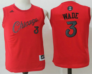 b5280f92a9f Youth Chicago Bulls  3 Dwyane Wade Revolution 30 Swingman 2016 Christmas  Day Red Jersey
