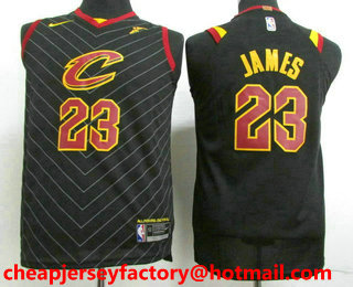 timeless design cae98 ca1f7 Youth Cleveland Cavaliers #23 LeBron James Black 2017-2018 ...