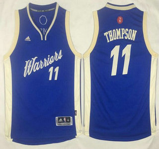 youth golden state warriors 11 klay thompson 2015 christmas day blue jersey 77047ad1c